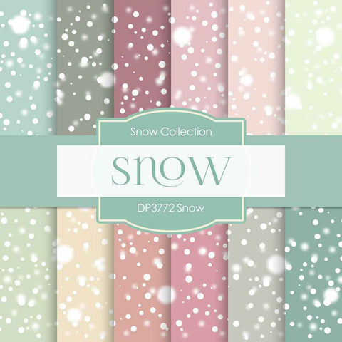 Snow Digital Paper DP3772 - Digital Paper Shop - 1