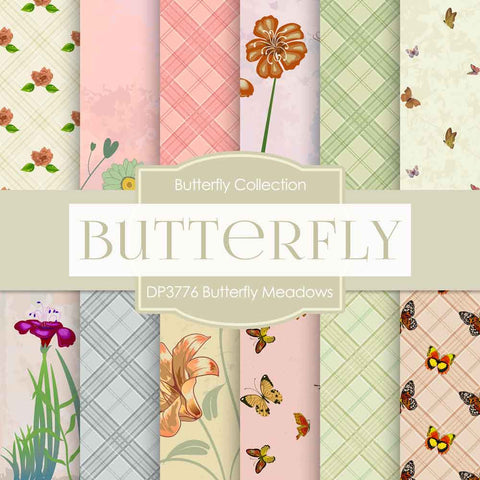 Butterfly Meadows Digital Paper DP3776 - Digital Paper Shop - 1
