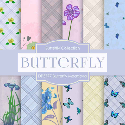 Butterfly Meadows Digital Paper DP3777 - Digital Paper Shop - 1