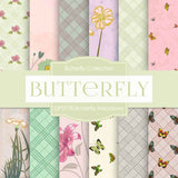 Butterfly Meadows Digital Paper DP3778 - Digital Paper Shop - 1