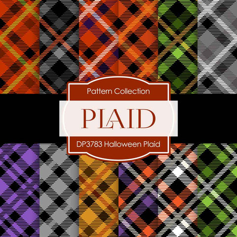 Halloween Plaid Digital Paper DP3783A - Digital Paper Shop - 1