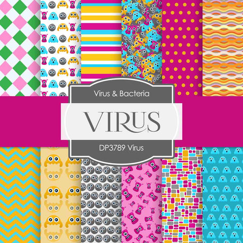 Virus Digital Paper DP3789A - Digital Paper Shop - 1