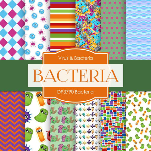 Bacteria Digital Paper DP3790A - Digital Paper Shop - 1