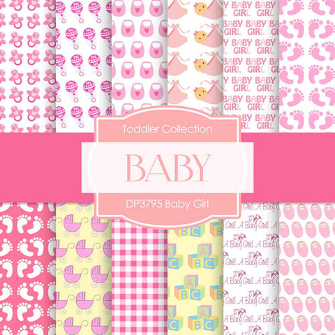 Baby Girl Digital Paper DP3795A - Digital Paper Shop - 1