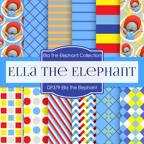 Ella The Elephant Digital Paper DP379