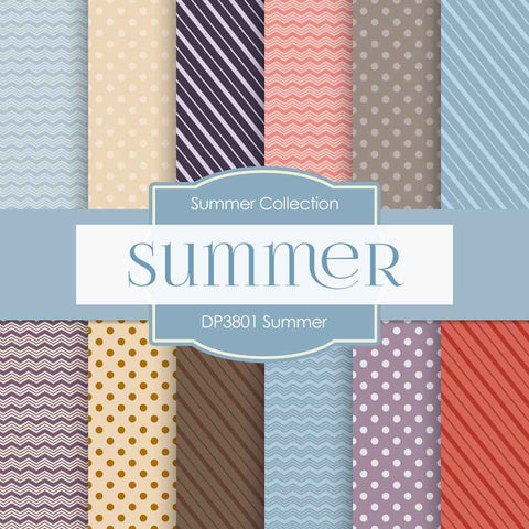 Summer Digital Paper DP3801 - Digital Paper Shop - 1