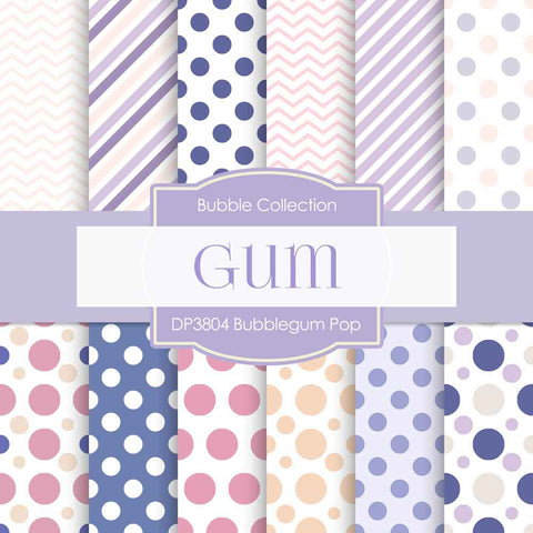 Bubblegum Pop Digital Paper DP3804 - Digital Paper Shop - 1