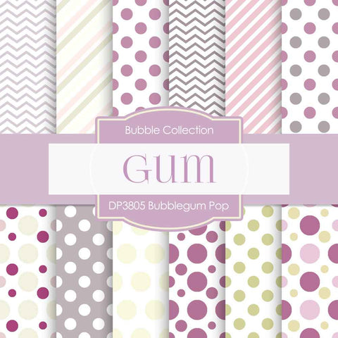 Bubblegum Pop Digital Paper DP3805 - Digital Paper Shop - 1