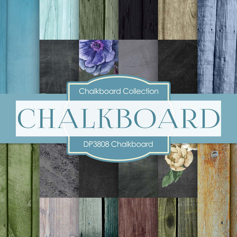 Chalkboard Digital Paper DP3808 - Digital Paper Shop - 1