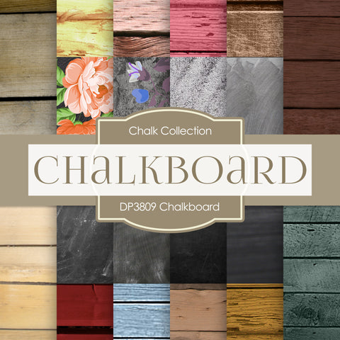 Chalkboard Digital Paper DP3809 - Digital Paper Shop - 1