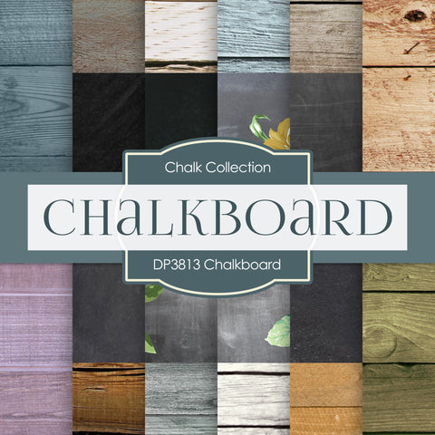 Chalkboard Digital Paper DP3813 - Digital Paper Shop - 1