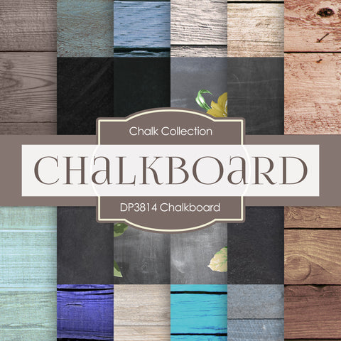 Chalkboard Digital Paper DP3814 - Digital Paper Shop - 1