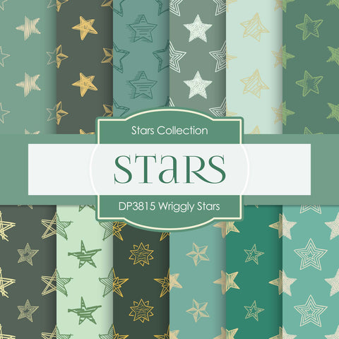 Wriggly Stars Digital Paper DP3815 - Digital Paper Shop - 1