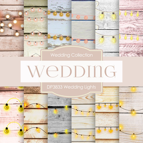 Wedding Lights Digital Paper DP3833 - Digital Paper Shop - 1
