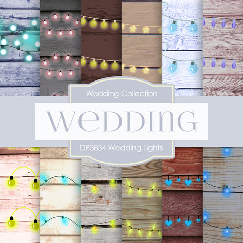 Wedding Lights Digital Paper DP3834 - Digital Paper Shop - 1