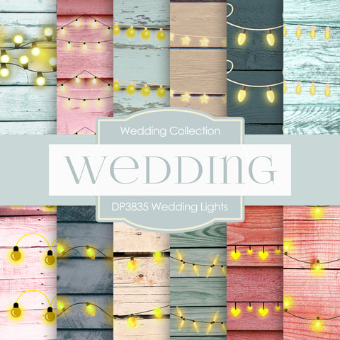Wedding Lights Digital Paper DP3835 - Digital Paper Shop - 1