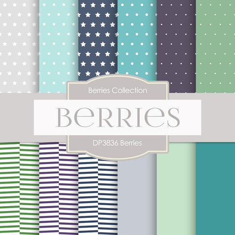Berries Digital Paper DP3836 - Digital Paper Shop - 1
