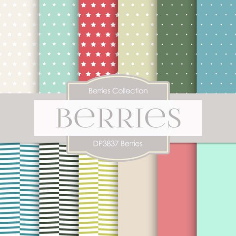 Berries Digital Paper DP3837 - Digital Paper Shop - 1