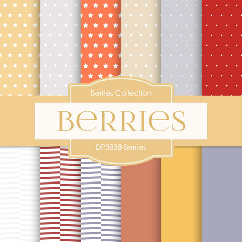 Berries Digital Paper DP3838 - Digital Paper Shop - 1
