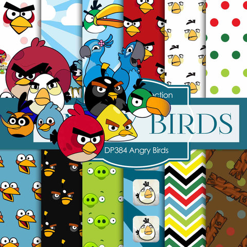 Angry Birds Digital Paper DP384 - Digital Paper Shop - 1