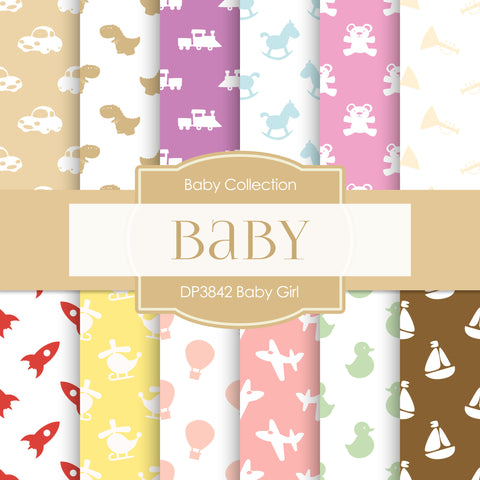 Baby Girl Digital Paper DP3842 - Digital Paper Shop - 1