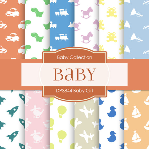 Baby Girl Digital Paper DP3844 - Digital Paper Shop - 1
