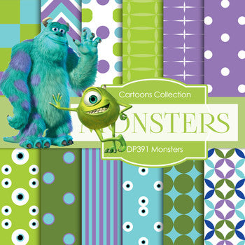 Monsters Digital Paper DP391 - Digital Paper Shop - 1