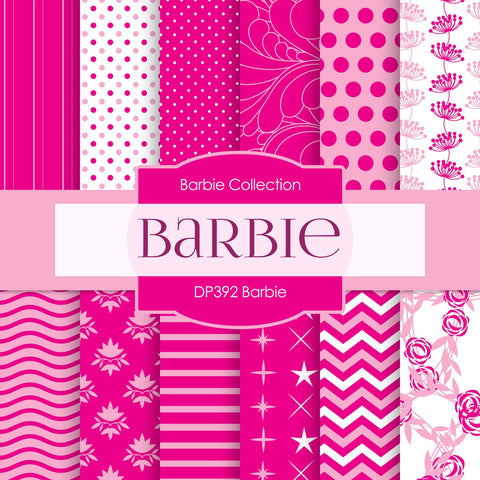 Barbie Digital Paper DP392 - Digital Paper Shop - 1