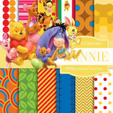 Winnie the Pooh Digital Paper DP396 - Digital Paper Shop - 1
