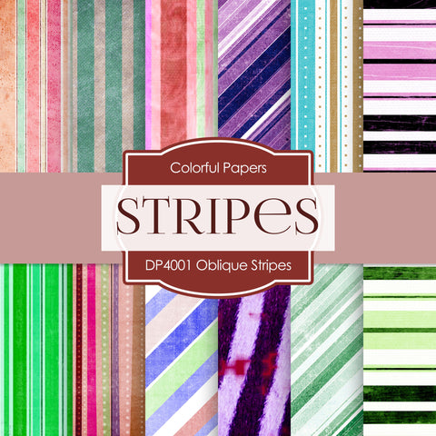 Oblique Stripes Digital Paper DP4001 - Digital Paper Shop - 1