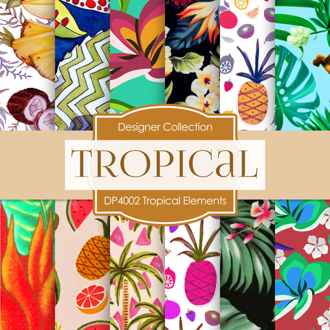 Tropical Elements Digital Paper DP4002 - Digital Paper Shop - 1