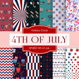 4th of July Independence Day Digital Paper DP4007 - Digital Paper Shop - 1