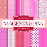 Affection Magenta Pink Digital Paper DP4009 - Digital Paper Shop - 1