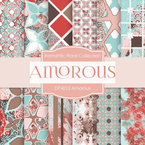 Amorous Digital Paper DP4012 - Digital Paper Shop - 1
