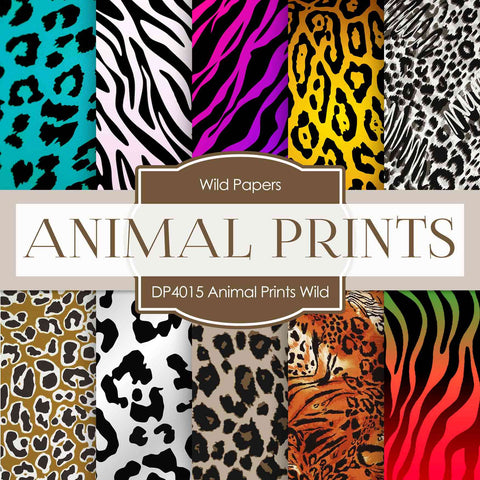 Animal Prints Wild Thing Digital Paper DP4015 - Digital Paper Shop - 1