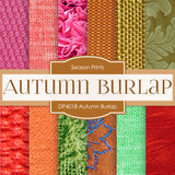Autumn Burlap Digital Paper DP4018 - Digital Paper Shop - 1