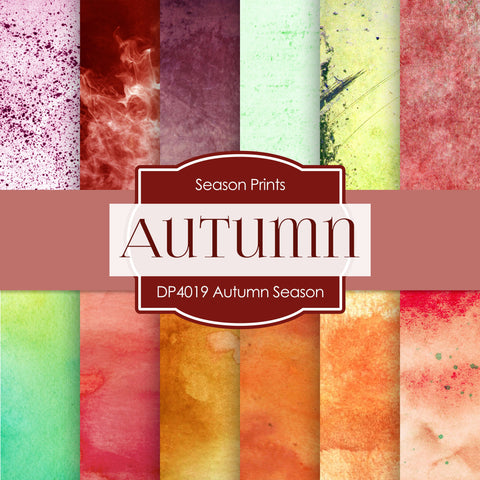 Autumn Season Digital Paper DP4019 - Digital Paper Shop - 1