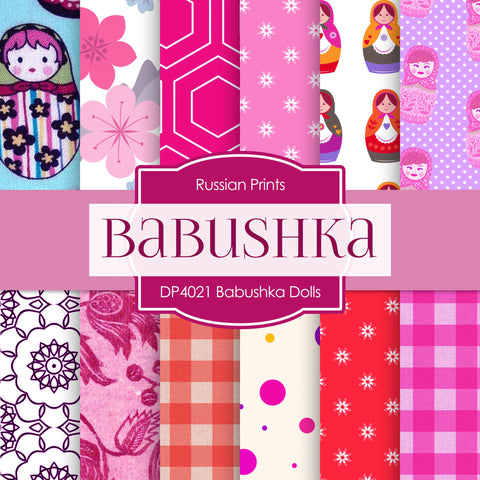 Babushka Dolls Shabby Chic Digital Paper DP4021 - Digital Paper Shop - 1