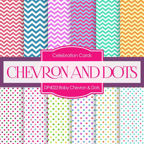 Baby Chevron Dots Digital Paper DP4023A - Digital Paper Shop - 1