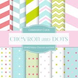 Baby Chevron And Dots Pastels Digital Paper DP4023 - Digital Paper Shop - 1
