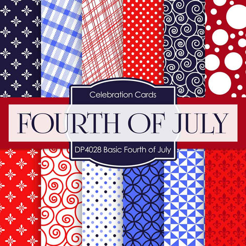Basic Fourth Of July Digital Paper DP4028A - Digital Paper Shop - 1