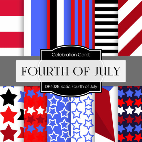 Basic Fourth Of July Digital Paper DP4028 - Digital Paper Shop - 1
