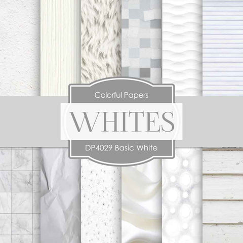 Basic White Digital Paper DP4029B - Digital Paper Shop - 1