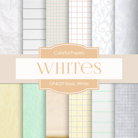 Basic White Digital Paper DP4029A - Digital Paper Shop - 1