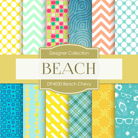 Beach Chevy Digital Paper DP4030 - Digital Paper Shop - 1