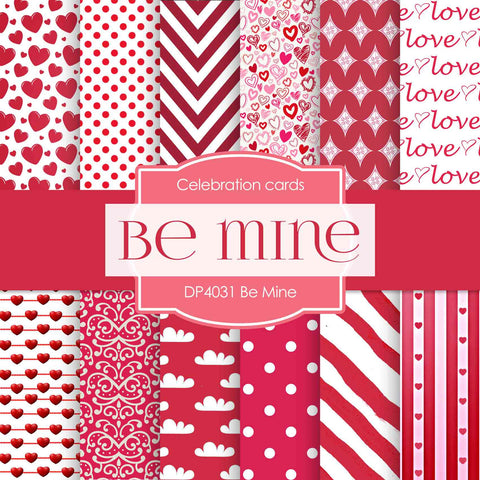 Be Mine Digital Paper DP4031 - Digital Paper Shop - 1