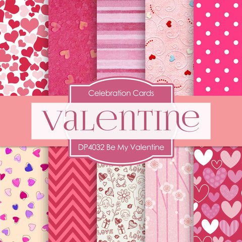 Be My Valentine Digital Paper DP4032 - Digital Paper Shop - 1