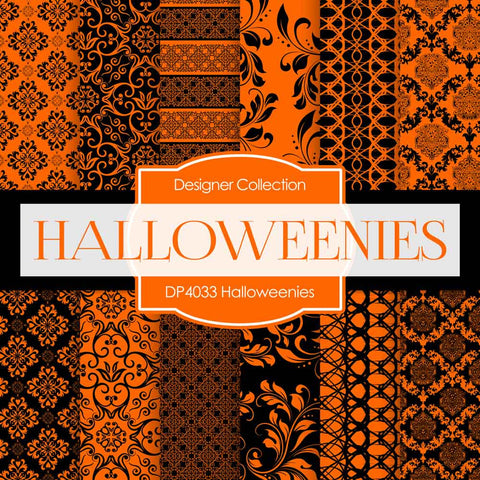 Halloweenies Digital Paper DP4033 - Digital Paper Shop - 1