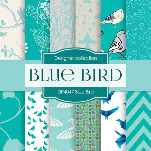 Blue Bird Digital Paper DP4047 - Digital Paper Shop - 1