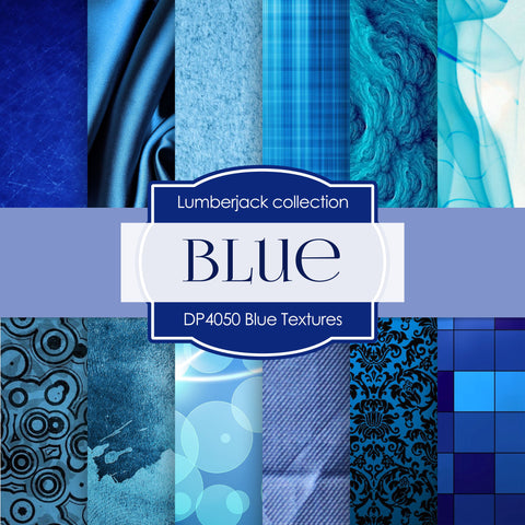 Blue Textures Digital Paper DP4050 - Digital Paper Shop - 1